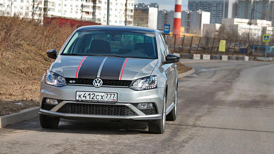 Volkswagen Polo GT (вид спереди)