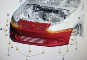 Как снять передний и задний бампер с Фольксваген Поло седан