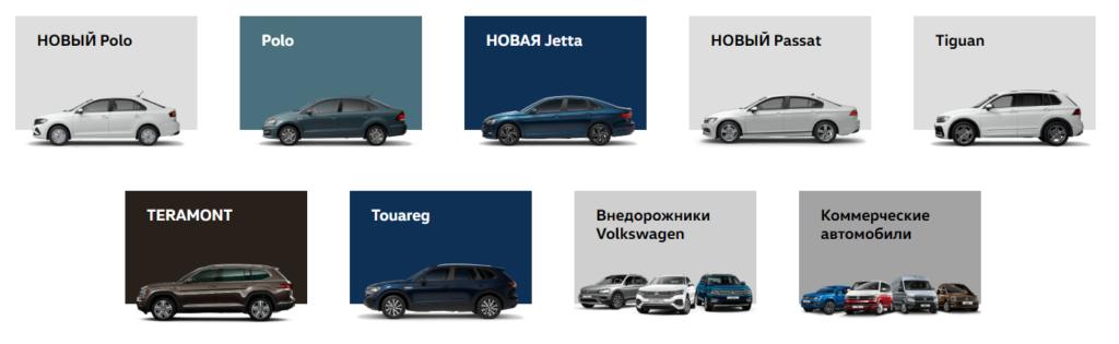 Модели Фольксваген 2020 для России