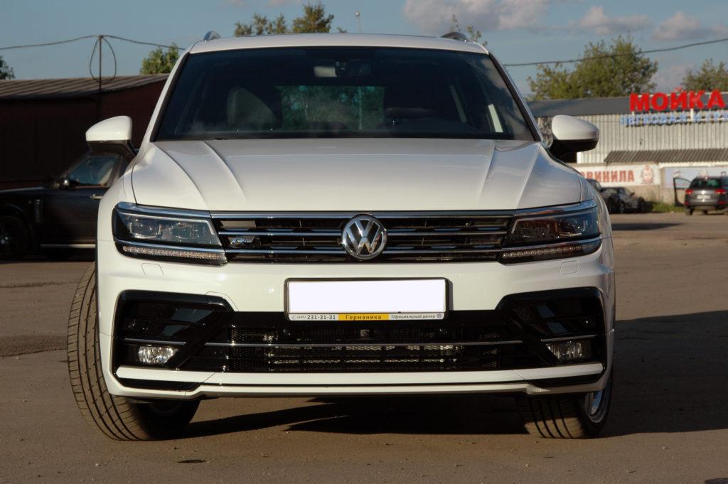 Установка обвеса R-Line на VW Tiguan 2017