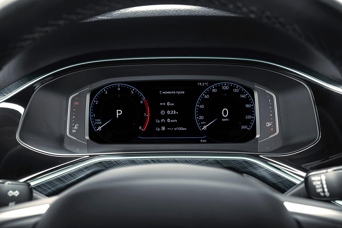 Виртуальная комбинация приборов в Volkswagen Polo 2020 Exclusive