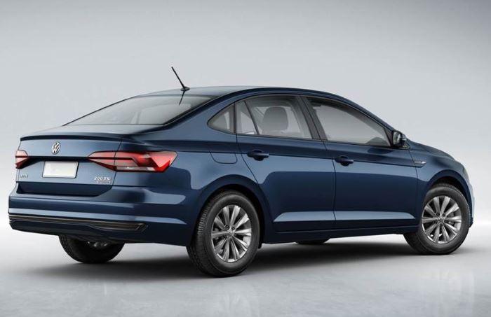 VW Polo sedan 2019 (вид сбоку и сзади)