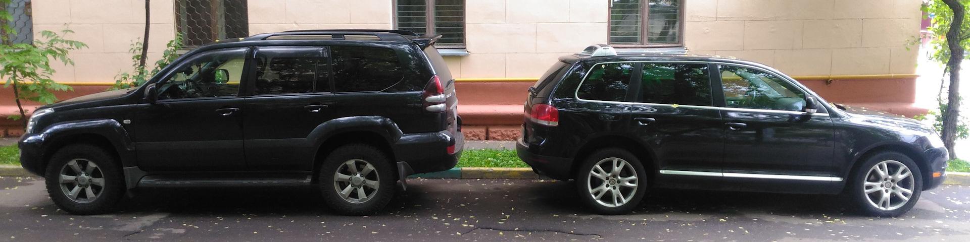 Volkswagen Touareg I vs Toyota Land Cruiser Prado 120