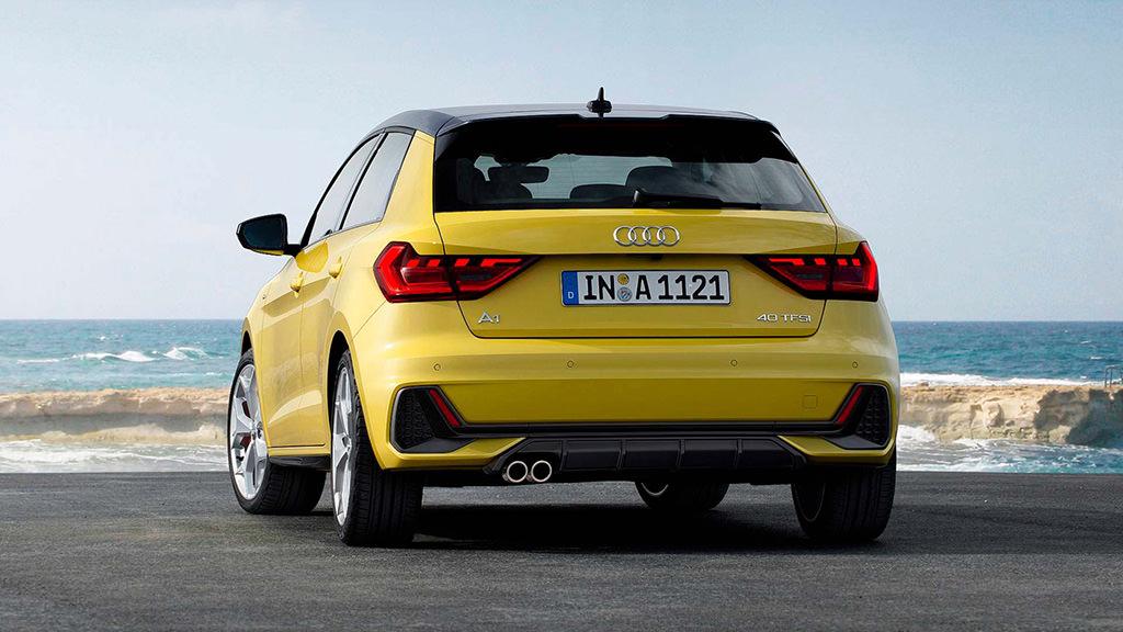 Audi A1 Sportback 2019 года (вид сзади)