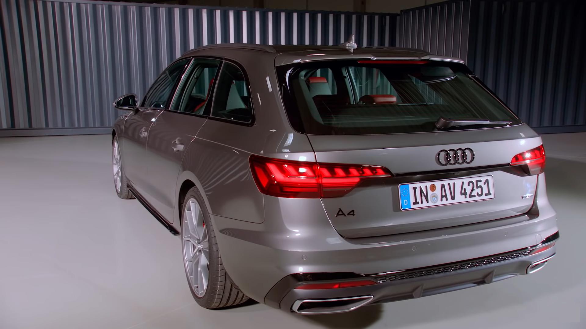 Audi A4 2020 (вид сбоку и сзади)