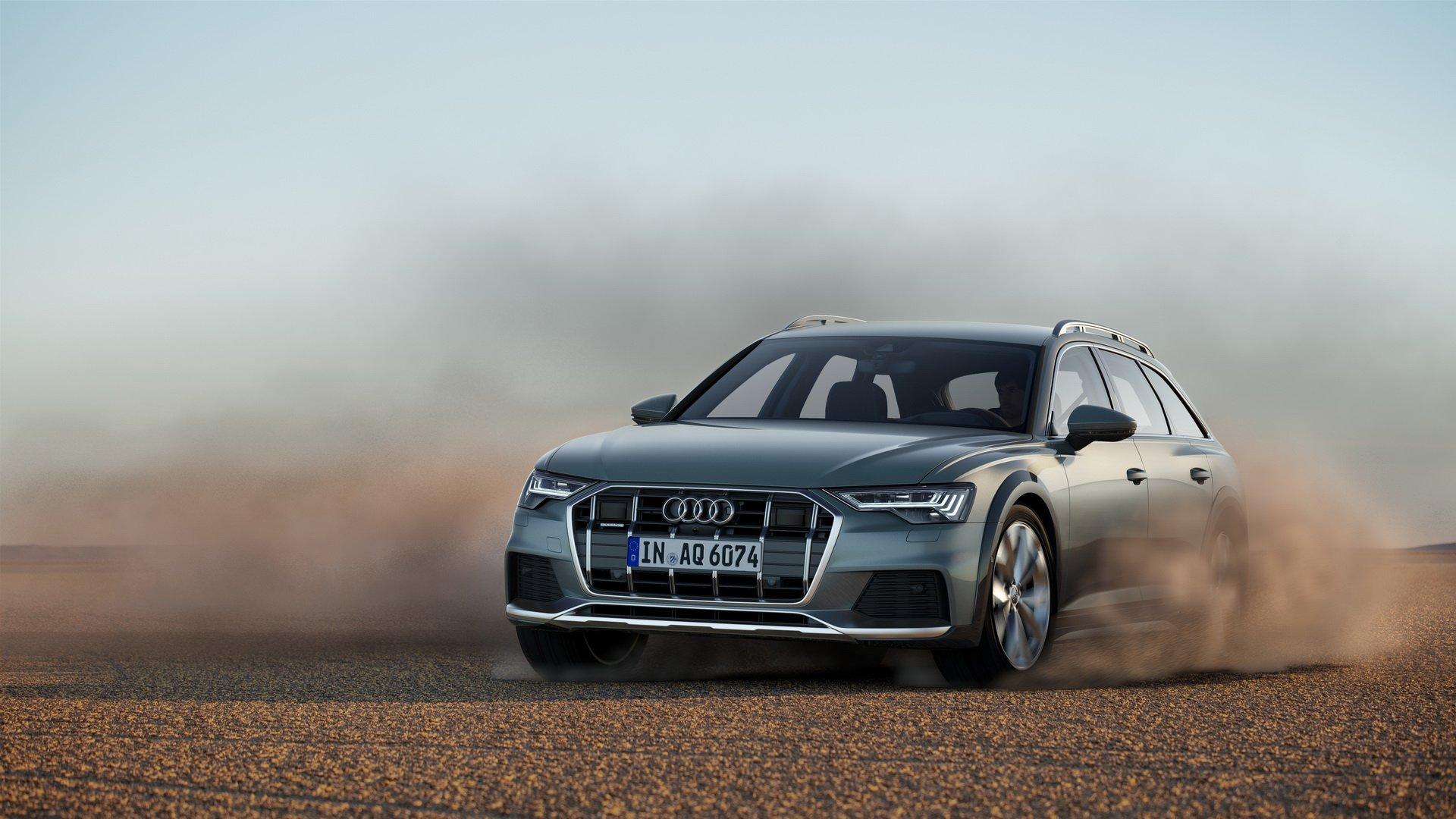 Audi A6 Allroad Quattro 2020 в движении