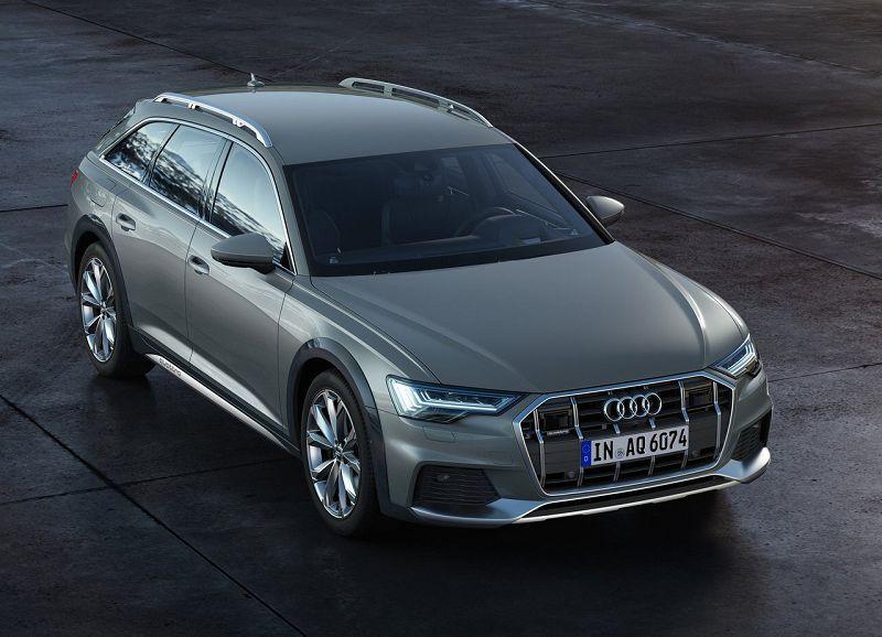 Audi A6 Allroad Quattro 2020 (вид сверху и спереди)