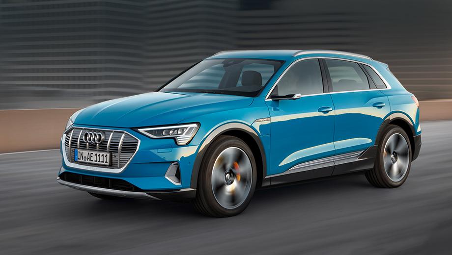 Фото Audi E-tron в синем цвете