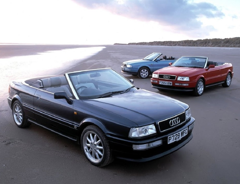 Audi 80 кабриолет в разных цветах
