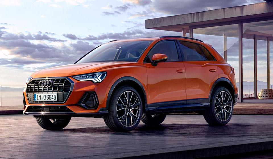 Audi Q3 2019 в оранжевом цвете