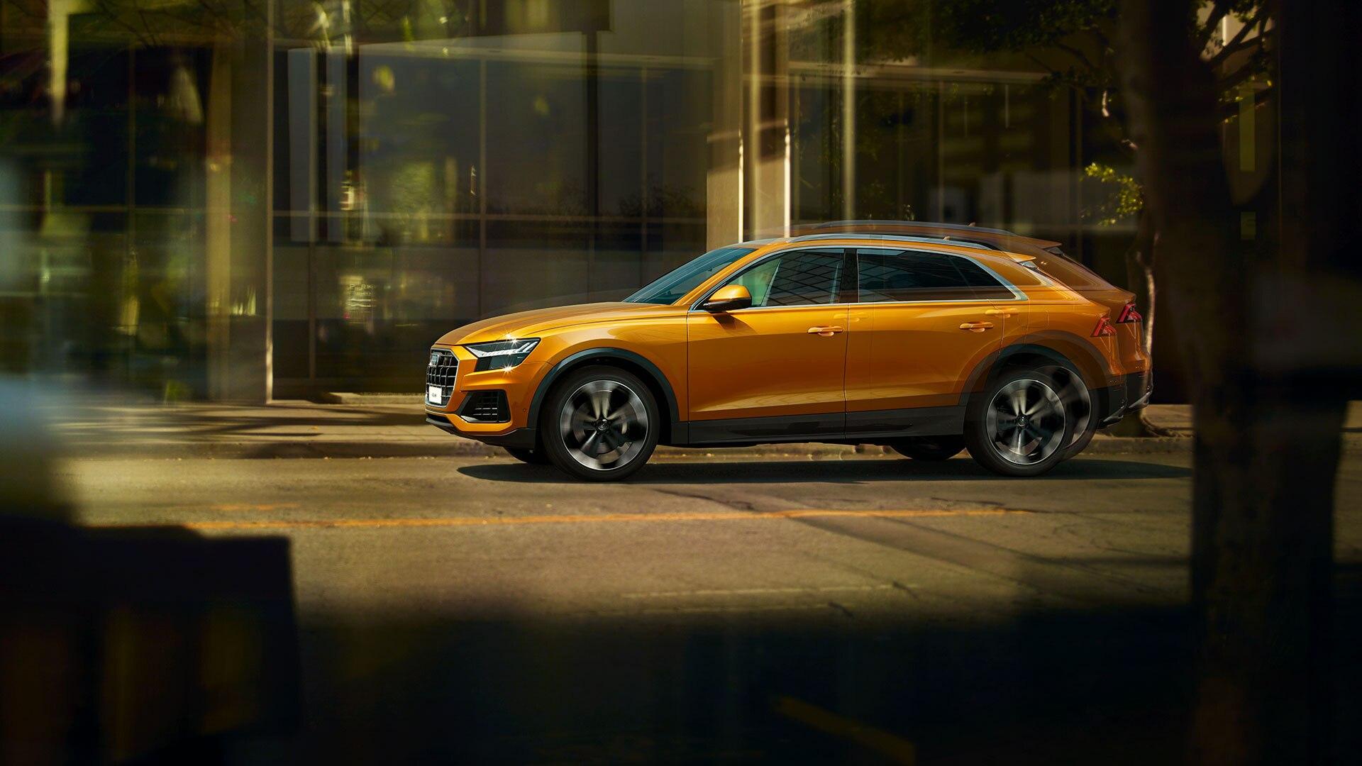 Audi Q8 в профиль