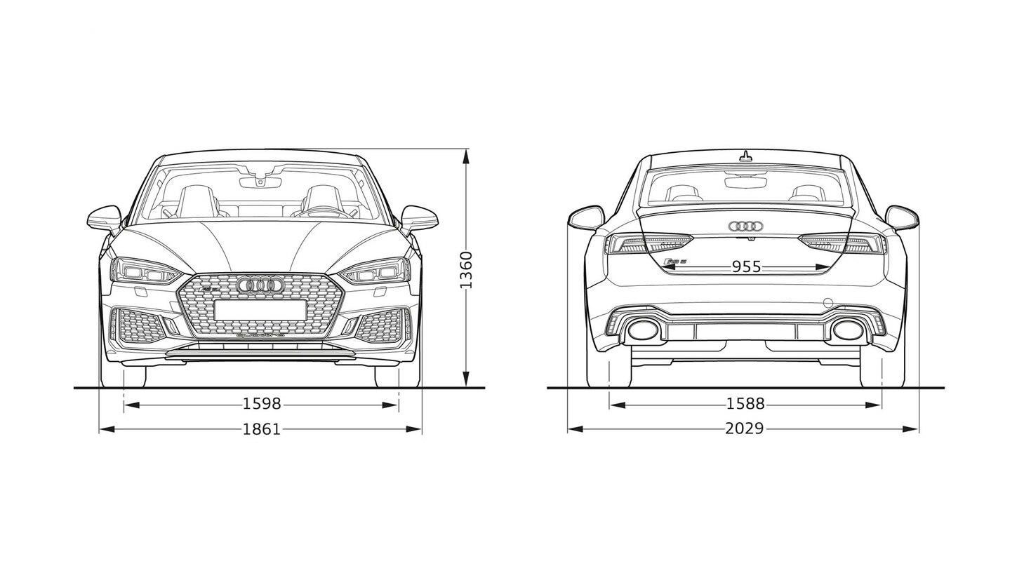 Размеры Audi RS5 Coupe