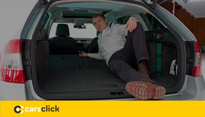 Багажник Шкода Октавия универсал и его объем с размерами