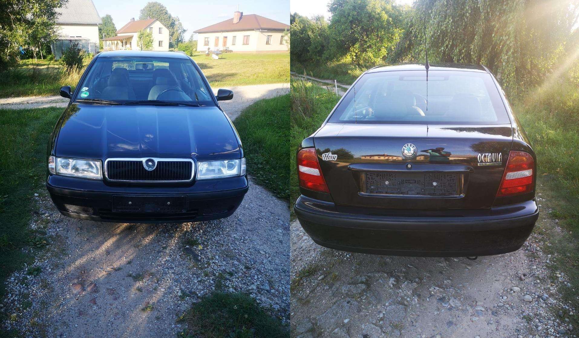 Skoda Octavia 2001 (вид переда и зада)