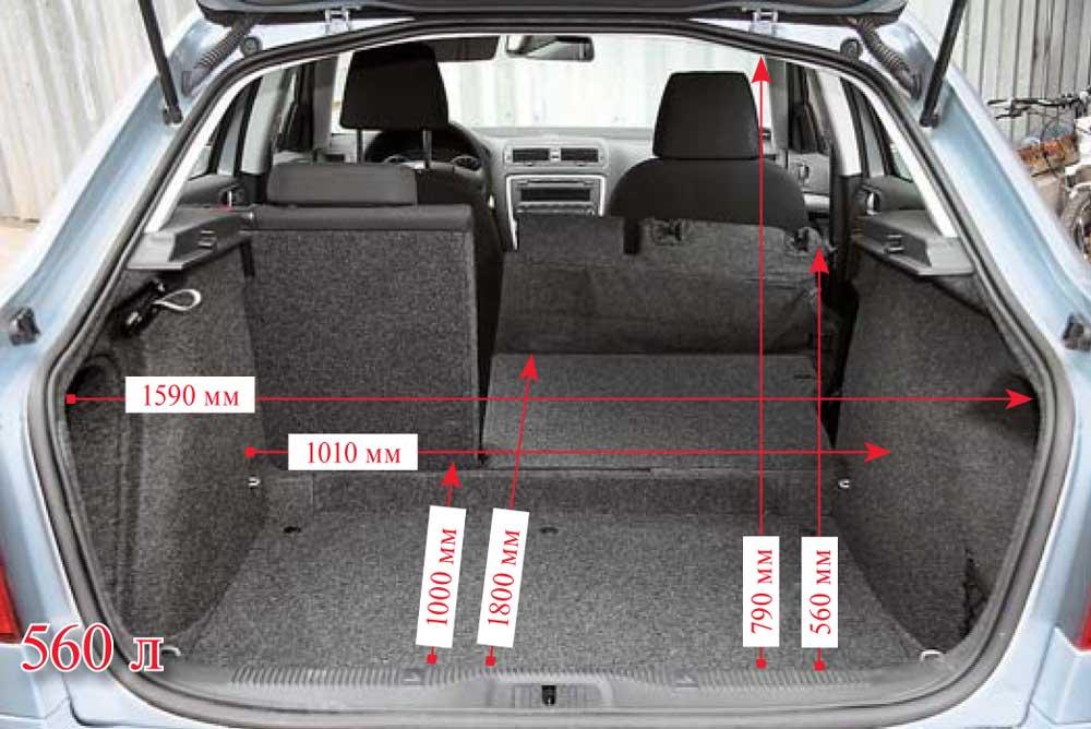 Размеры багажника в Шкода Октавия А5