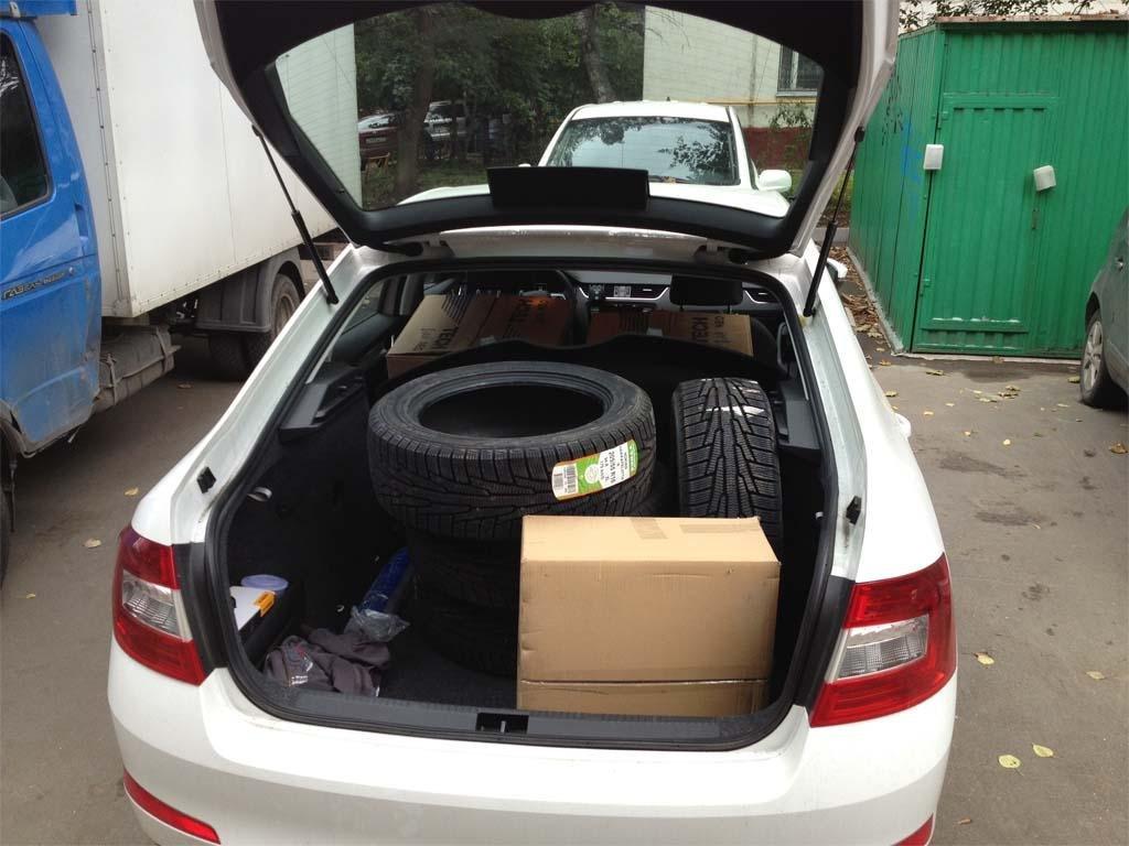 Вместимость багажника Шкода Октавия А5 на конкретном примере