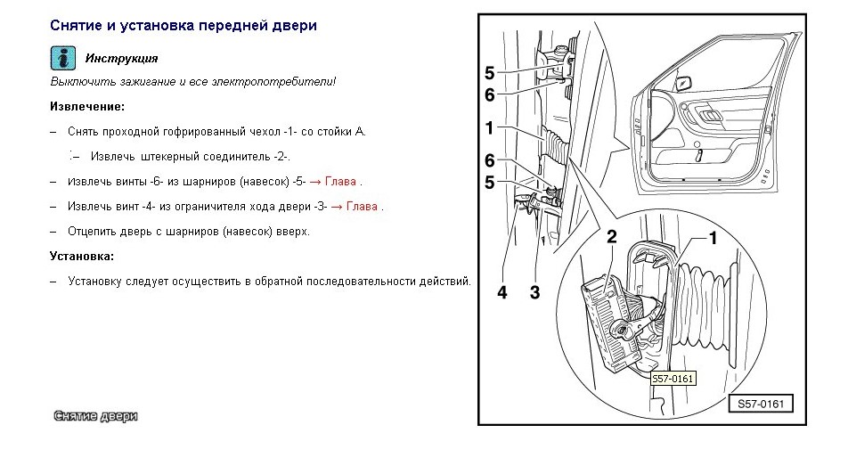 Как снять дверь автомобиля Шкода Октавия А5