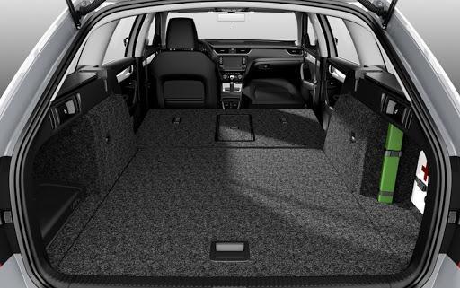 Объем багажника Шкода Октавия Комби (фото)