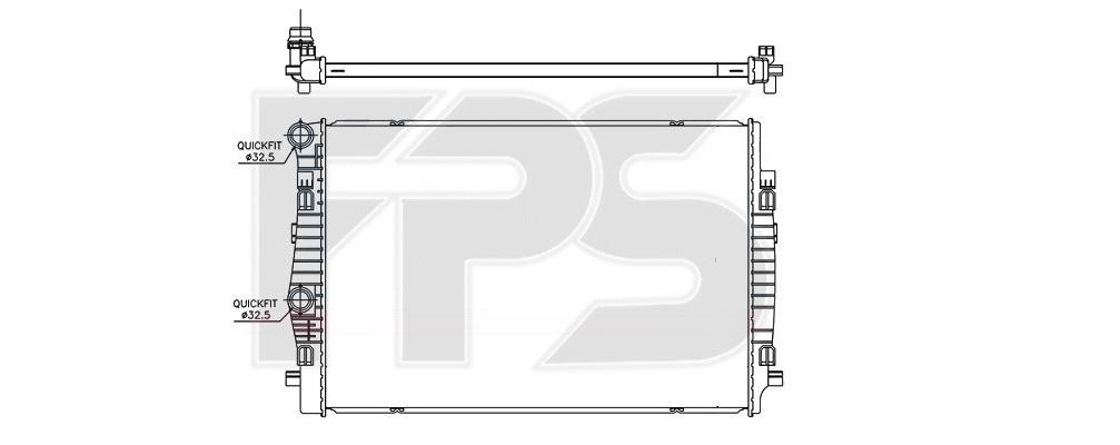Радиатор охлаждения двигателя на Шкода Октавия А7 (схема)